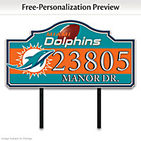 Miami Dolphins Personalized Address Sign