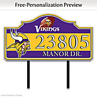 Minnesota Vikings Personalized Address Sign