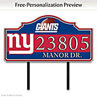 New York Giants Personalized Address Sign