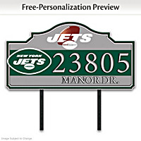 New York Jets Personalized Address Sign