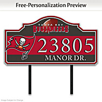Tampa Bay Buccaneers Personalized Address Sign