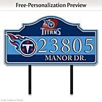 Tennessee Titans Personalized Address Sign