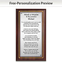 Grandson's Words Of Wisdom Personalized Wall Decor