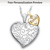A Bushel & A Peck Personalized Diamond Pendant Necklace