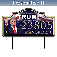 President Donald Trump Personalized Address Sign