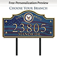 Military Personalized Address Sign