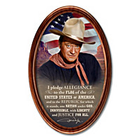 John Wayne: The Pledge Of Allegiance Collector Plate