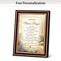 Thomas Kinkade Nurse\'s Prayer Personalized Frame