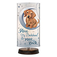 Love My Dachshund To The Moon And Back Lamp
