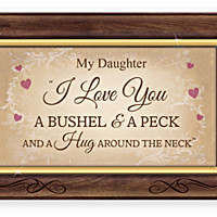 Daughter, I Love You A Bushel And A Peck Music Box