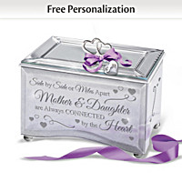 Always Connected By The Heart Personalized Music Box