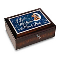 Love My Yorkie To The Moon And Back Heirloom Music Box