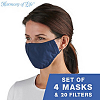 Antibacterial Cooling Face Masks And Filters Set