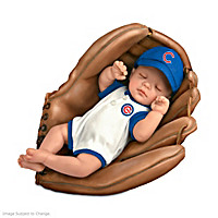 Born A Cub\'s Fan Baby Doll
