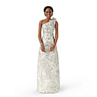 Michelle Obama Inaugural Ball Commemorative Portrait Doll