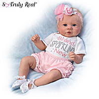 Kaylie\'s Brand Sparkling New Baby Doll