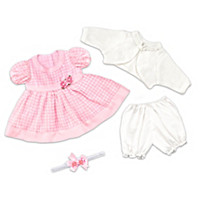 Party Dress Baby Doll Accessory Set