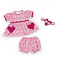Be My Valentine Baby Doll Accessory Set