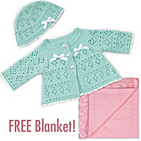 Sweater & Hat Accessory Set and FREE Blanket