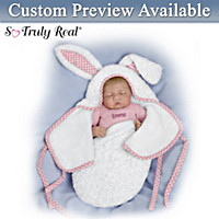 Baby Of Mine White Bunny Personalized Baby Doll