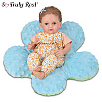 Mia Baby Doll And Blue Pillow Set