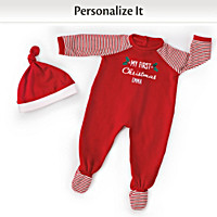 Personalized Christmas PJs Baby Doll Accessory Set