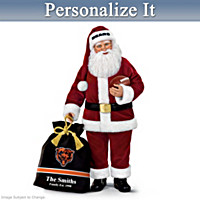 Chicago Bears Santa Doll With Personalized Bag