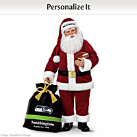 Seattle Seahawks Santa Doll With Personalized Bag