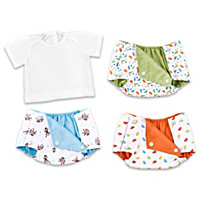 Boy Diaper Covers And T-Shirt Baby Doll Accessory Set