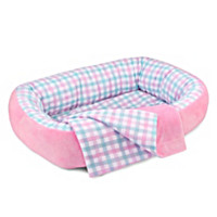 Pink Reversible Bassinet Baby Doll Accessory