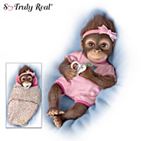 Snuggle Suri Monkey Doll