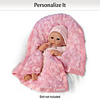 Plush Blanket Personalized Baby Doll Accessory