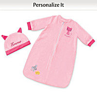 Cat & Mouse Sleep Sack Personalized Baby Doll Accessory Set
