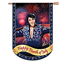 Elvis Presley Happy Fourth Of July Flag