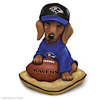 Ravens Sunday Afternoon Quarter-Bark Figurine