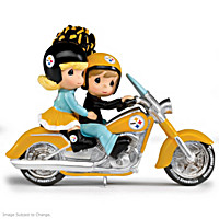 Rollin\' Through The Red Zone Steelers Figurine