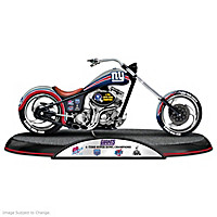 New York Giants Driven To Victory Motorcycle Sculpture