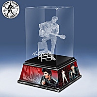 Elvis Rock And Roll Legend Glass Sculpture