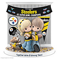 Together We\'re A Winning Team Steelers Figurine