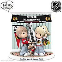 Together We\'re A Winning Team Blackhawks® Figurine