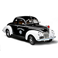 1:18-Scale 1939 Ford Deluxe Police Diecast Car
