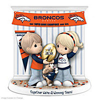 Together We\'re A Winning Team Denver Broncos Figurine