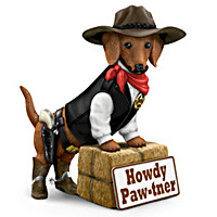 Howdy Paw-tner Welcome Sculpture