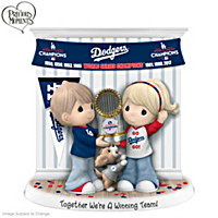 Together We\'re A Winning Team Los Angeles Dodgers Figurine