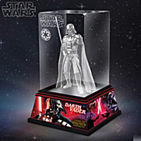 Darth Vader Laser-Etched Glass Sculpture