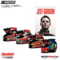 Tribute To Jeff Gordon\'s Legacy Racing Helmet Set