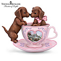 Thomas Kinkade Your Love Suits Me To A Tea Figurine
