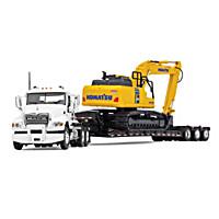 Mack And Komatsu Excavation Team Diecast Truck And Excavator