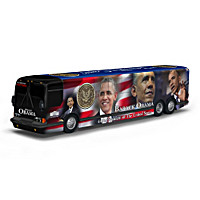 Barack Obama Presidential Tour Bus Sculpture