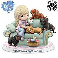Precious Moments Home Is Where My Doxies Are Figurine